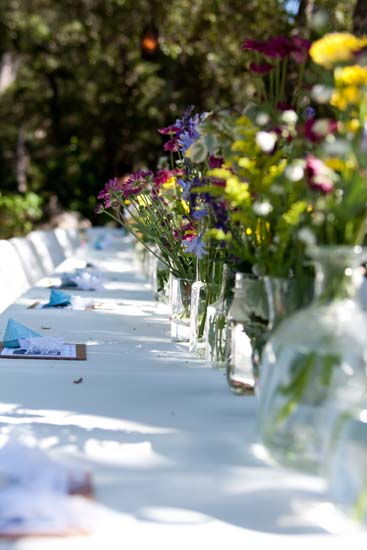 Long Wedding Table Place Settings